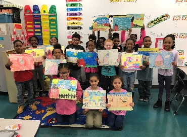First Graders Participate in Art Contest